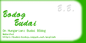 bodog budai business card